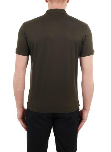 Hugo Boss  Regular Fit % 100 Pamuk Düğmeli Polo T Shirt Erkek Polo 50450619 306 Haki